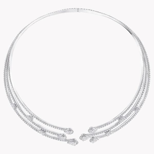 Duet多行钻石项链, , hi-res
