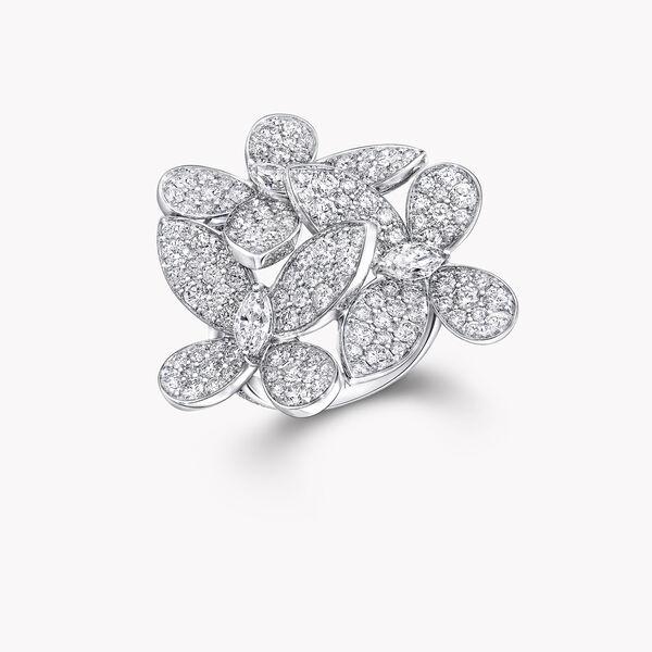 Bague en diamants Triple Pavé Butterfly, , hi-res
