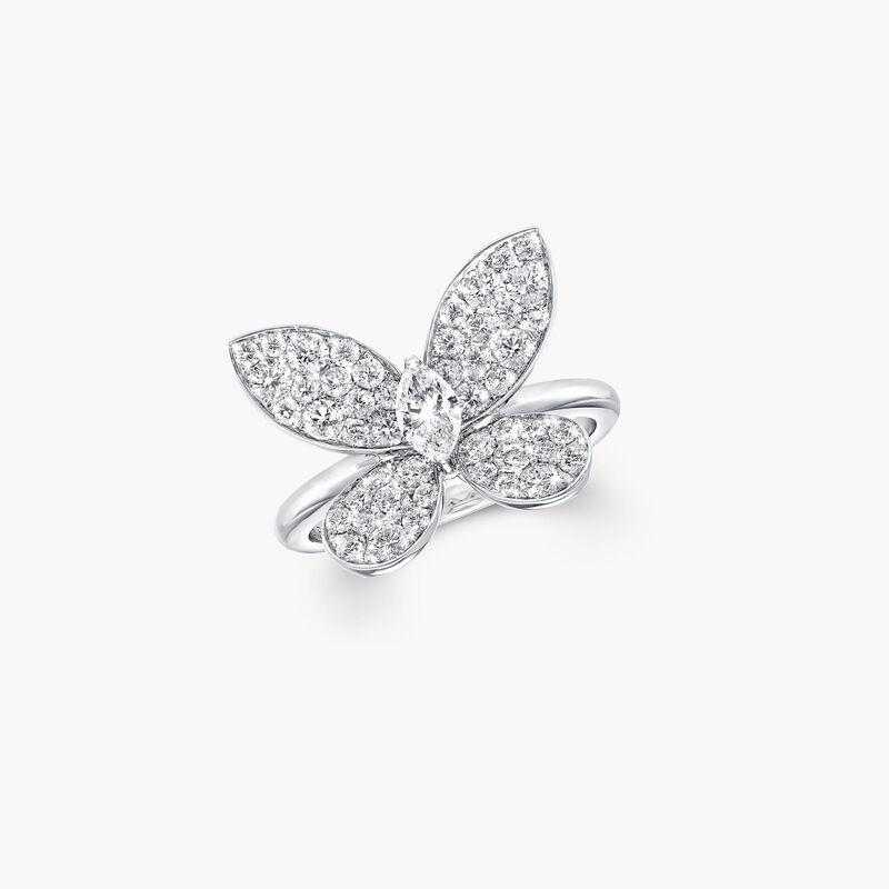 Bague en diamants Pavé Butterfly, , hi-res