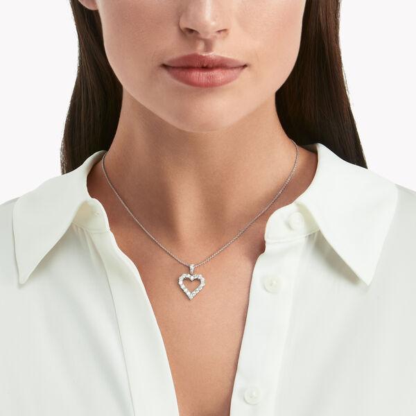 心形鑽石鏤空吊墜, , hi-res