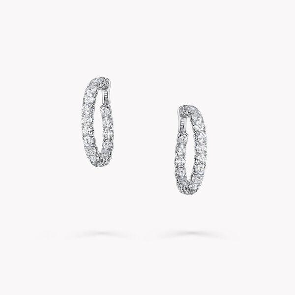 圓形鑽石環圈耳環, , hi-res