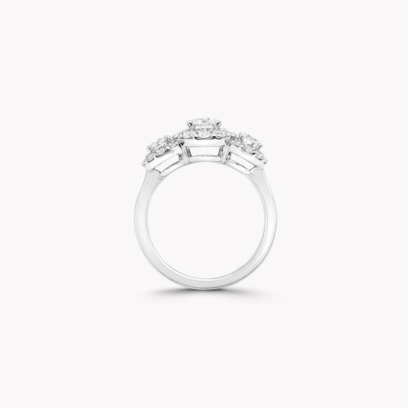 아이콘 3 스톤 라운드 다이아몬드 링, , hi-res