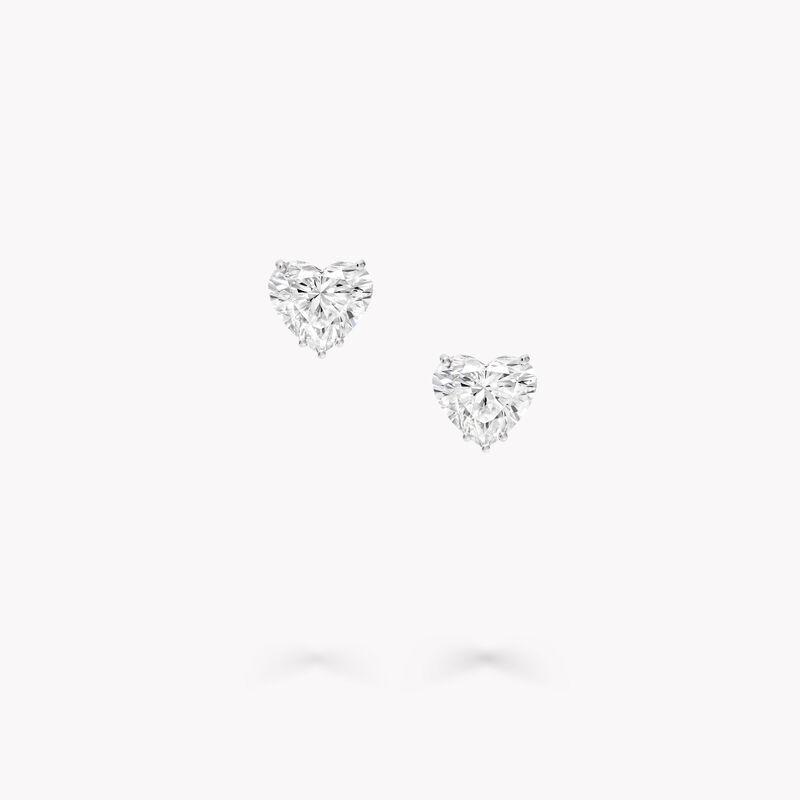 Heart Shape Diamond Stud Earrings, , hi-res