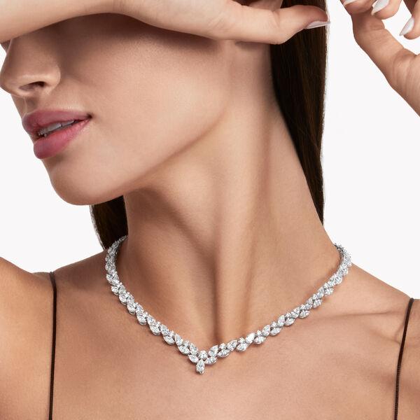 マルチ シェイプ ダイヤモンド ネックレス, , hi-res