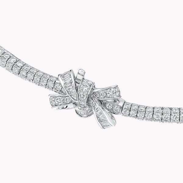 Double collier de haute joaillerie « goutte » en diamants Tilda's Bow, , hi-res