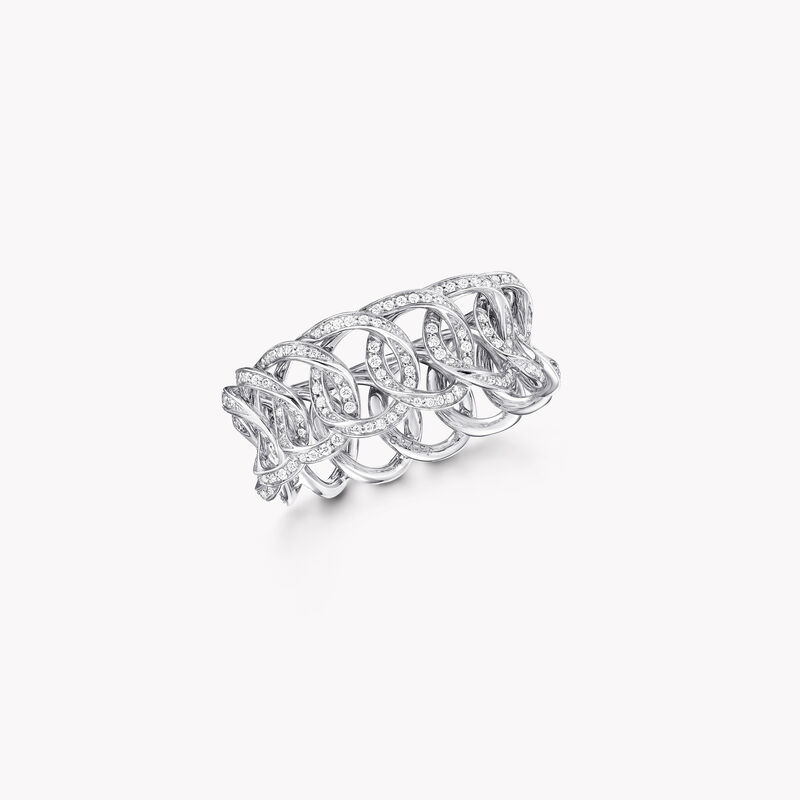 Alliance en pavés de diamants ronds Inspired by Twombly, , hi-res