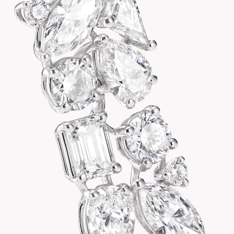 Multi-shape Diamond Drop Earrings, , hi-res