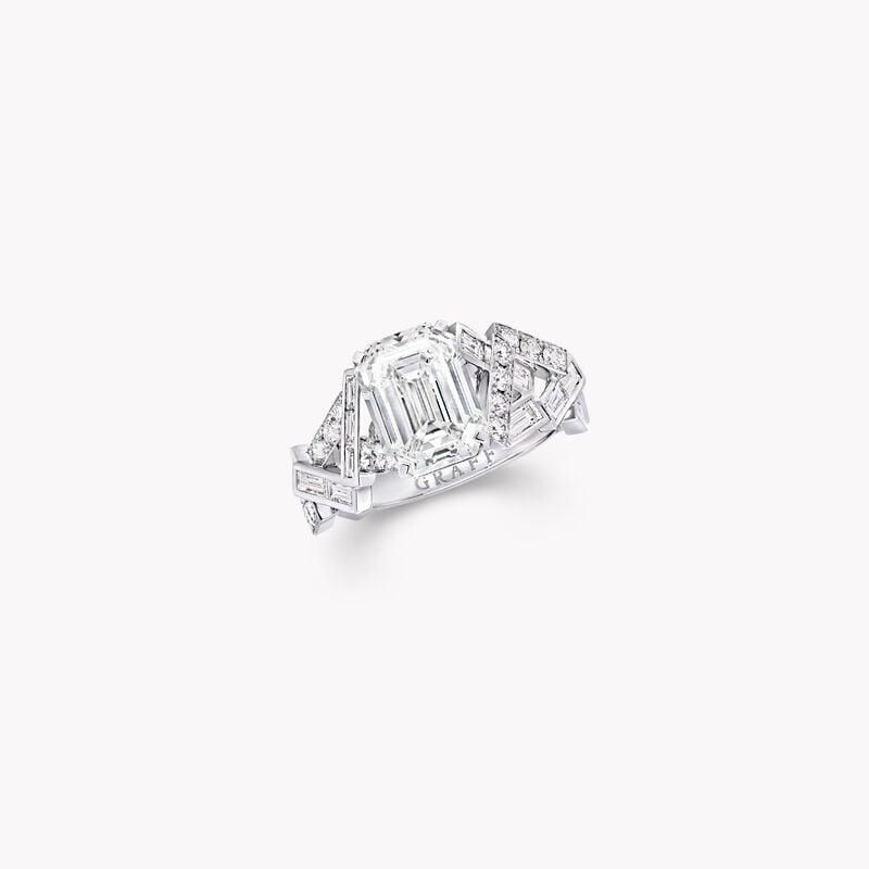 Bague solitaire en diamant Threads, , hi-res