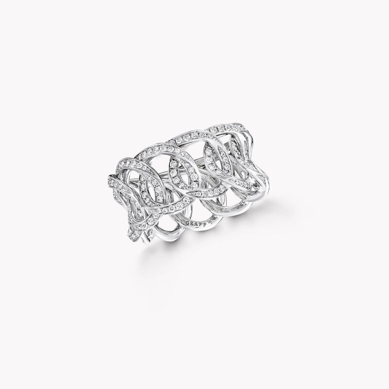 Alliance en pav�s de diamants ronds Inspired by Twombly, , hi-res