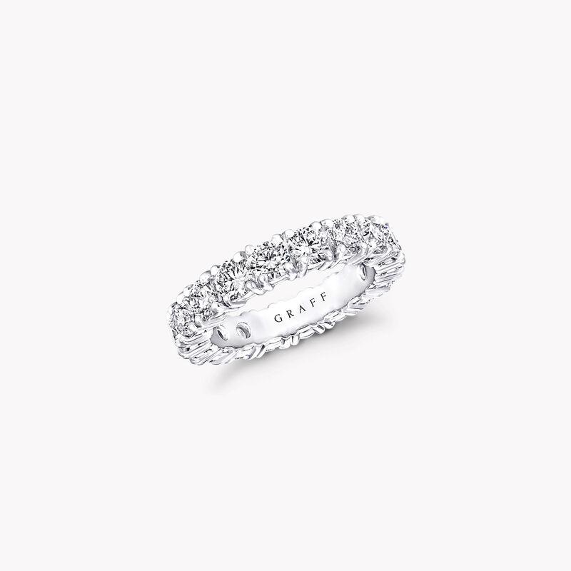 Four Claw Round Diamond Wedding Band, , hi-res