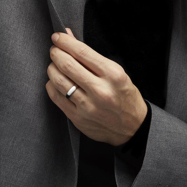 D Shape Wedding Band, , hi-res