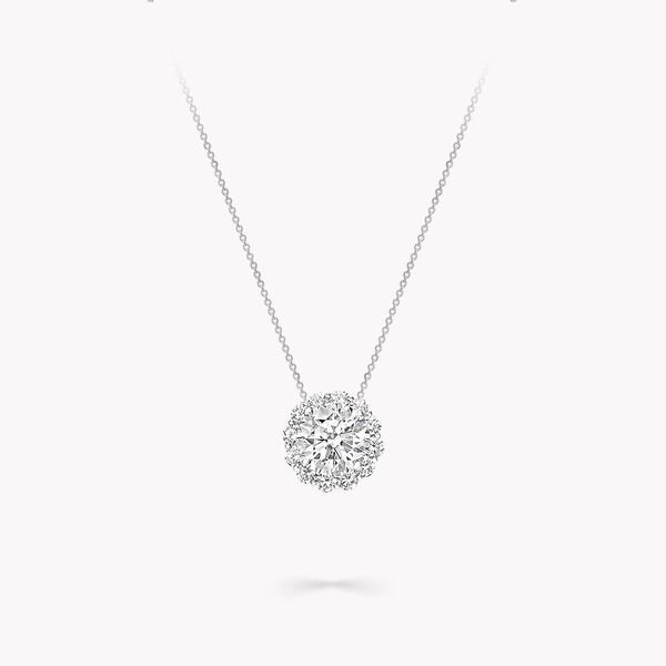 Icon Round Diamond Pendant, , hi-res