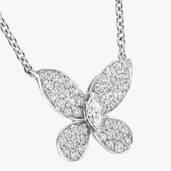 Pavé Butterfly Diamond Mini Pendant, , hi-res
