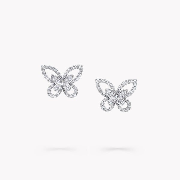 Mini clous d'oreilles en diamants Butterfly Silhouette, , hi-res