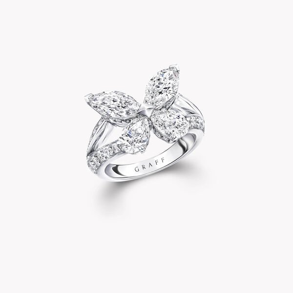 Classic Butterfly Diamond Ring, , hi-res