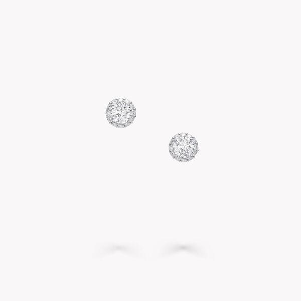 아이콘 라운드 다이아몬드 스터드 이어링, , hi-res