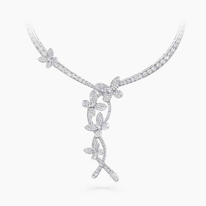 Collier en diamants Triple Pavé Butterfly, , hi-res