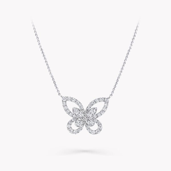 Pendentif en diamants Butterfly Silhouette, , hi-res