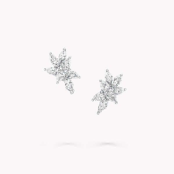 Multi-shape Diamond Small Stud Earrings, , hi-res