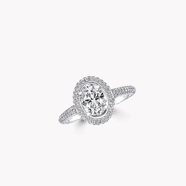 Constellation Oval Diamond Engagement Ring, , hi-res
