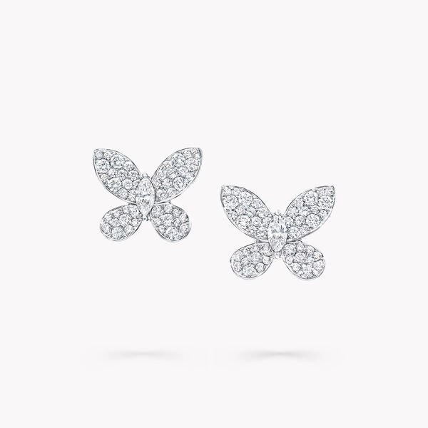 Pavé Butterfly Diamond Stud Earrings, , hi-res
