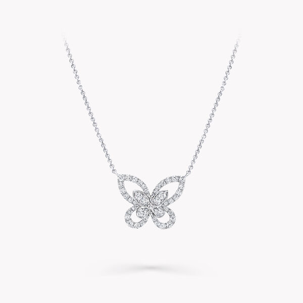 Mini pendentif en diamants Butterfly Silhouette, , hi-res