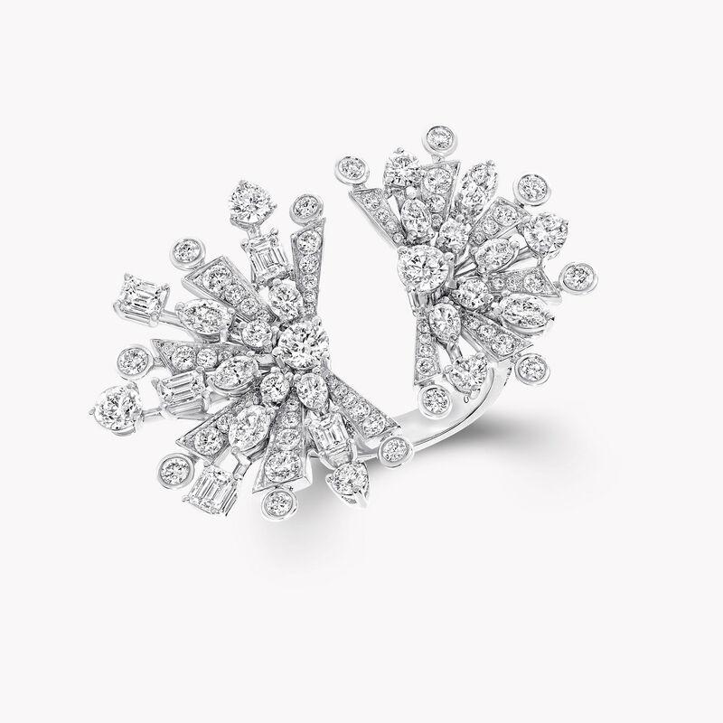 Double Solar Diamond Ring, , hi-res