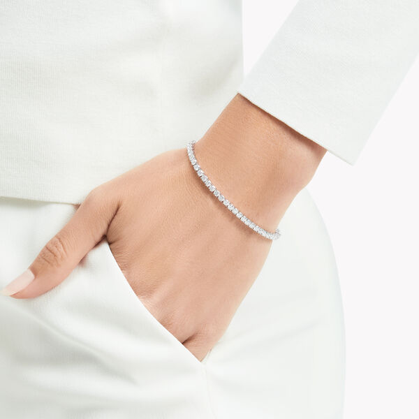 Bracelet fin en diamants ronds, , hi-res