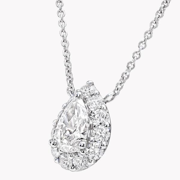 Icon Pear Shape Diamond Pendant, , hi-res