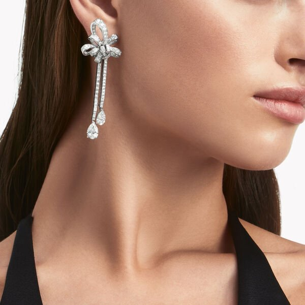 Inspired by Twombly Diamond Double Strand Earrings, , hi-res