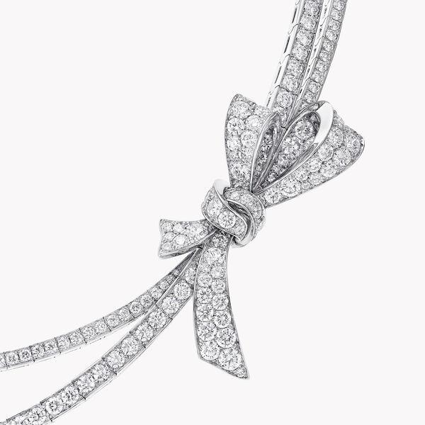 틸다의 보우 파베 다이아몬드 네클리스, 소재 | 그라프, , hi-res