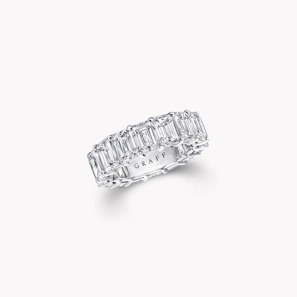 Emerald Cut Diamond Wedding Band, , hi-res