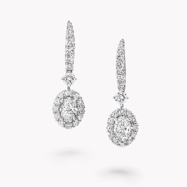 Icon Oval Shape Diamond Earrings, , hi-res