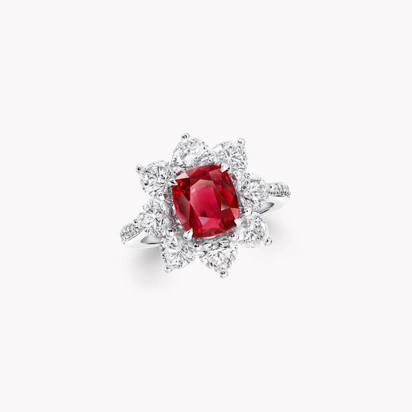 Cushion Cut Ruby High Jewellery Ring, , hi-res