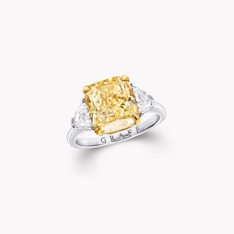 Promise Radiant Cut Yellow Diamond Engagement Ring, , hi-res