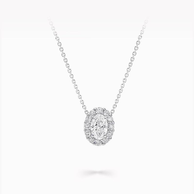 Icon橢圓形鑽石吊墜, , hi-res