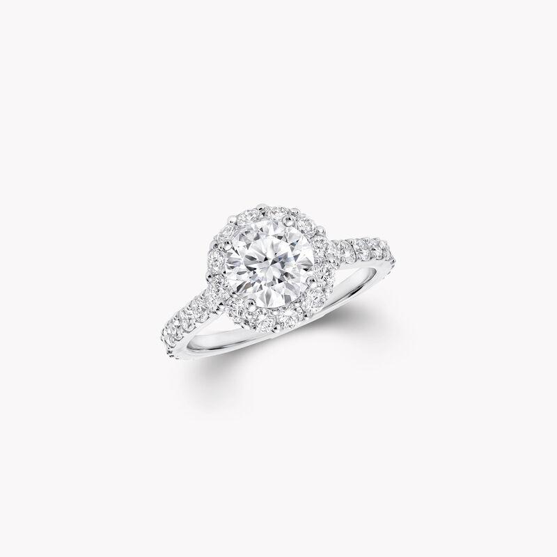 Icon Round Diamond Engagement Ring, , hi-res
