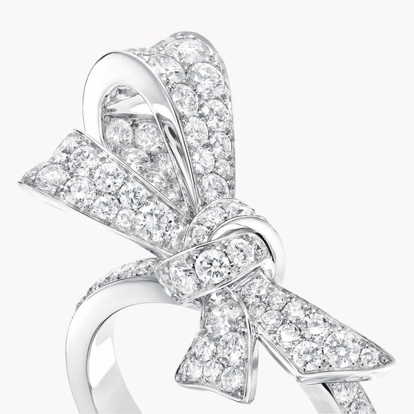 Bow Pavé Diamond Ring, , hi-res