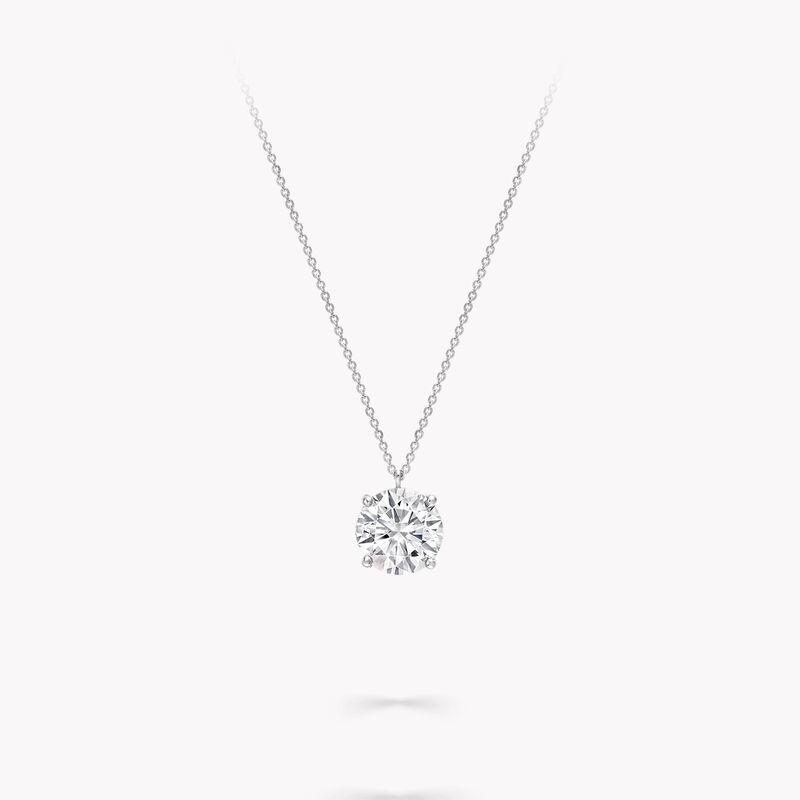 Round Diamond Pendant, , hi-res