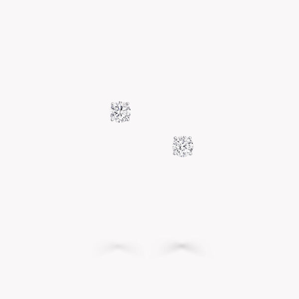 圆形钻石耳钉, , hi-res