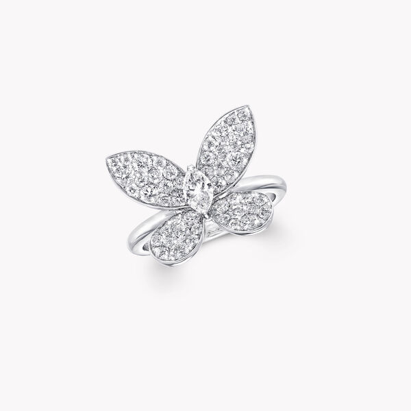 Pavé Butterfly Diamond Ring, , hi-res