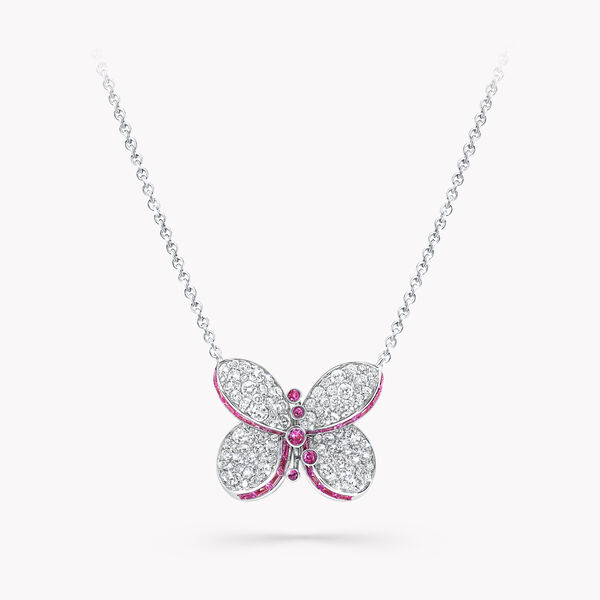 Princess Butterfly Emerald and Diamond Pendant, , hi-res
