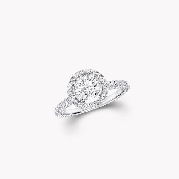 컨스텔레이션 라운드 다이아몬드 인게이지먼트 링, , hi-res