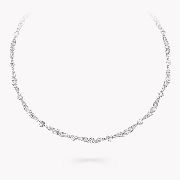 Collier en diamants motif La Nouvelle Aube, , hi-res