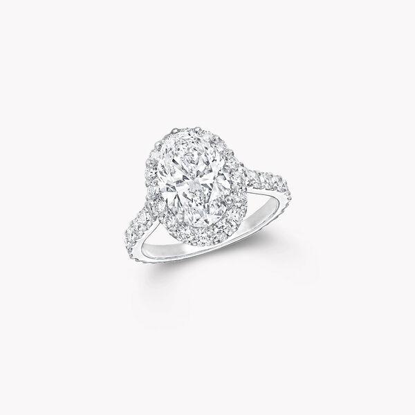 아이콘 오벌 다이아몬드 인게이지먼트 링, , hi-res