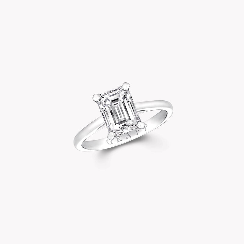 파라곤 에메랄드 컷 다이아몬드 인게이지먼트 링, , hi-res