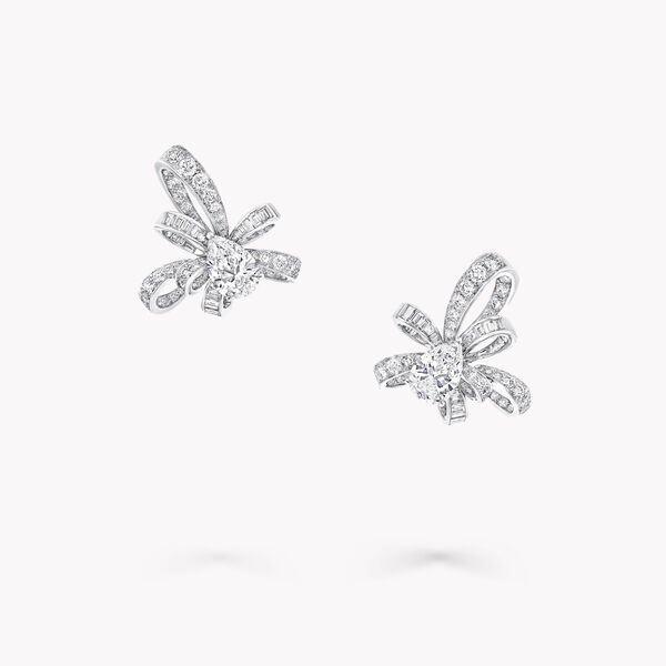 Tilda's Bow Pear Shape Diamond Stud Earrings, , hi-res