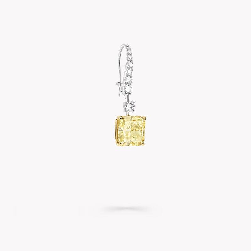 黄钻和白钻高级珠宝耳环, , hi-res