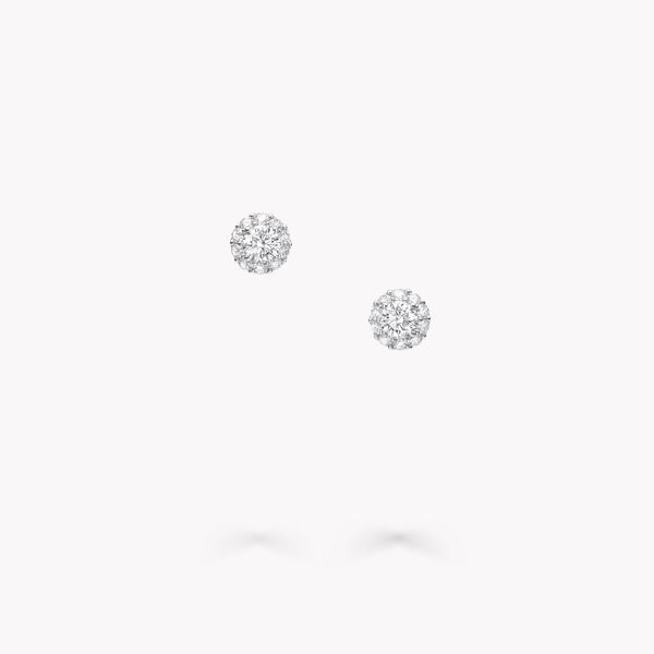 アイコン ラウンド ダイヤモンド スタッド イヤリング, , hi-res