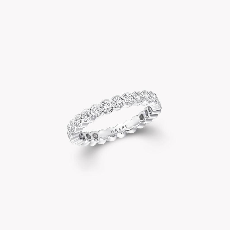 Bezel Set Round Diamond Wedding Band, , hi-res